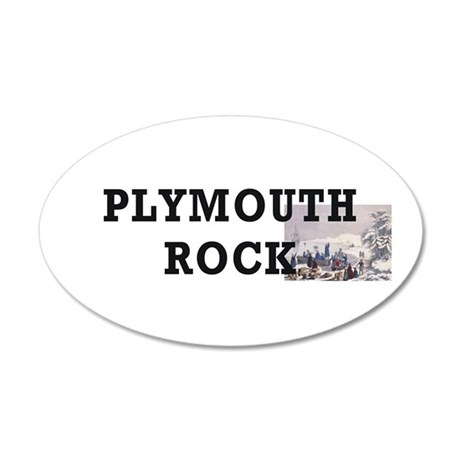 ABH Plymouth Rock 35x21 Oval Wall Decal