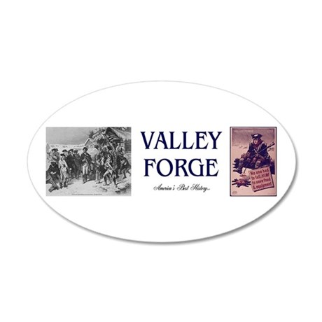 ABH Valley Forge 20x12 Oval Wall Decal