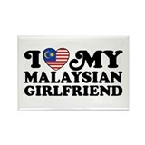 I Love My Malaysian Girlfriend Rectangle Magnet