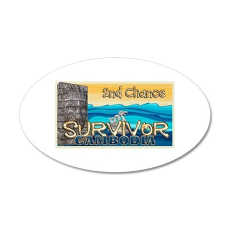 Survivor Cambodia 35x21 Oval Wall Decal