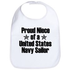 Proud Navy Niece Star Bib
