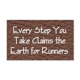 TOP Run Earth Wall Decal