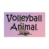 TOP Volleyball Animal 38.5 x 24.5 Wall Peel