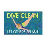 TOP Dive Clean Wall Decal