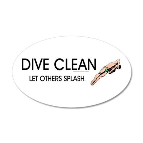 TOP Dive Clean 35x21 Oval Wall Decal