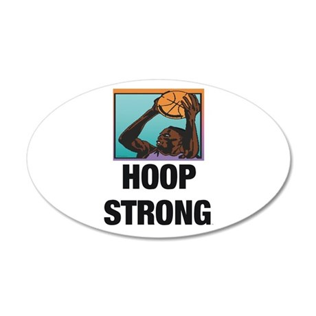TOP Hoop Strong 20x12 Oval Wall Decal