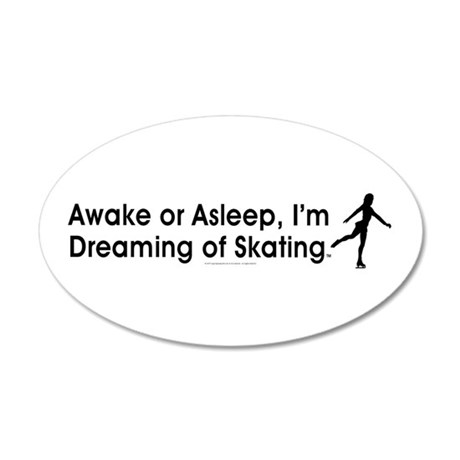 Dreaming of Skating 20x12 Oval Wall Decal