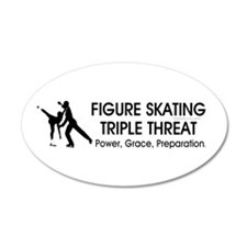 Figure Skating Slogan 22x14 Oval Wall Peel