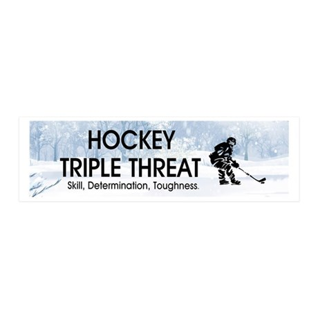 TOP Ice Hockey Slogan 36x11 Wall Decal