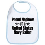Proud Navy Nephew Star Bib