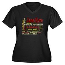 Jane Eyre Characters Women's Plus Size V-Neck Dark