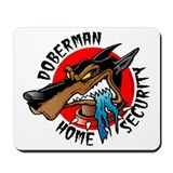 Doberman Home Security Mousepad