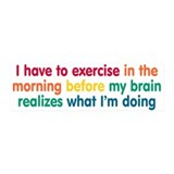 Early Morning Exercise Wall Decal