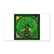 Circle Celtic Tree of Life 22x14 Wall Peel