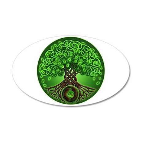Circle Celtic Tree of Life 22x14 Oval Wall Peel