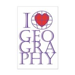 I heart Geography Mini Poster Print