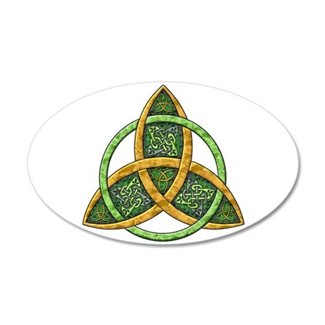 Celtic Trinity Knot 38.5 x 24.5 Oval Wall Peel