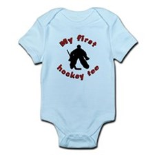First Hockey Tee (red text) Onesie