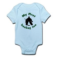 First Hockey Tee (green text) Infant Bodysuit
