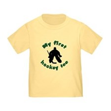 First Hockey Tee (green text) T