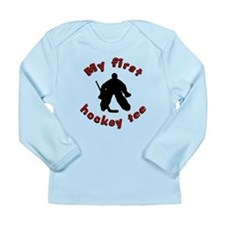 First Hockey Tee (red text) Long Sleeve Infant T-S