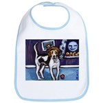 AMERICAN FOXHOUND smiling moo Bib
