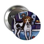 AMERICAN FOXHOUND smiling moo Button