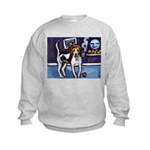 AMERICAN FOXHOUND smiling moo Kids Sweatshirt