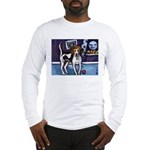 AMERICAN FOXHOUND smiling moo Long Sleeve T-Shirt