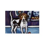 AMERICAN FOXHOUND smiling moo Rectangle Magnet (10