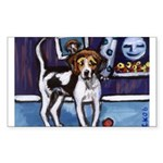 AMERICAN FOXHOUND smiling moo Sticker (Rectangular