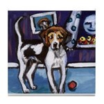 AMERICAN FOXHOUND smiling moo Tile Coaster