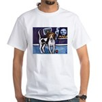 AMERICAN FOXHOUND smiling moo White T-Shirt
