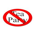 No Tea Party 20x12 Oval Wall Peel Decor
