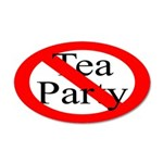 No Tea Party 20x12 Oval Wall Peel Decor