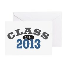 Class Of 2013 Blue Greeting Cards (Pk of 10)