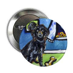 "BOYKIN SPANIEL smiling moon 2.25"" Button (100 pack"