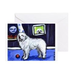 GREAT PYRENEES smiling moon Greeting Cards (Packag