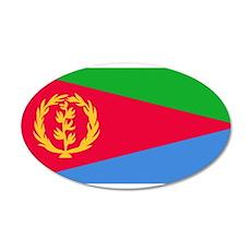 Eritrea 22x14 Oval Wall Peel