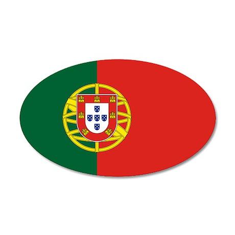 Portugal 22x14 Oval Wall Peel