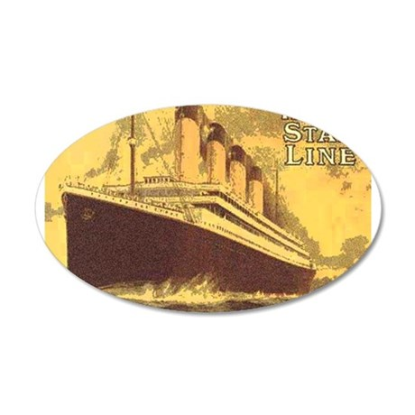 Titanic 1 22x14 Oval Wall Peel
