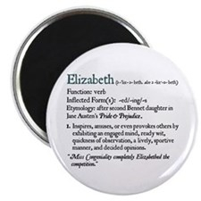 Jane Austen Elizabeth Definition Magnet