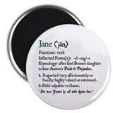 Jane Austen Jane Definition Magnet