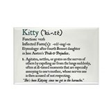 Jane Austen Kitty Rectangle Magnet
