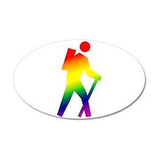 Hiker Pride 38.5 x 24.5 Oval Wall Peel