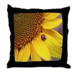 Ladybugs on Flowers Throw Pillow