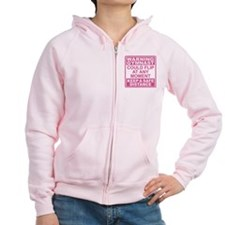 Warning Gymnast Flip Zipped Hoodie