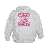 Warning Gymnast Flip Hoodie