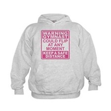 Warning Gymnast Flip Hoody