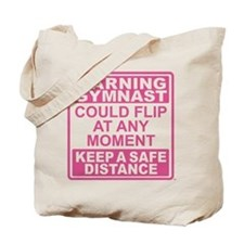 Warning Gymnast Flip Tote Bag